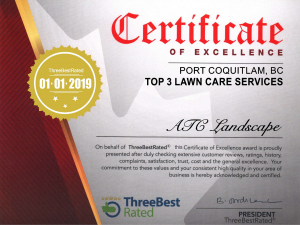 three best rated lawn care coquitlam